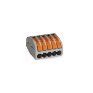 222-415 Clema de legatura 5 poli Wago seria 222 cablu litat 5 x 0.08 - 2.5 mm2 400 V / 4 KV / 32 A