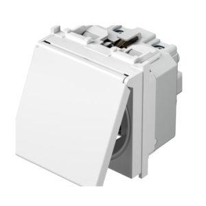 Modul Priza simpla CP cu capac 2m alb - TEM